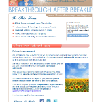 Divorce Recovery Coaching Newsletter